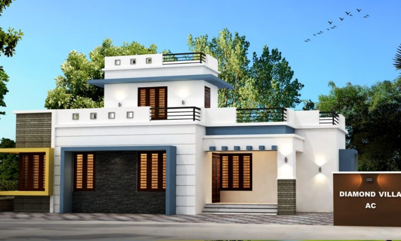 1125 Sq Ft 3BHK Contemporary Style Single Floor Modern House and Free Plan