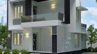 Photo of 1195 Sq Ft 3BHK Contemporary Style Two-Storey House and Free Plan