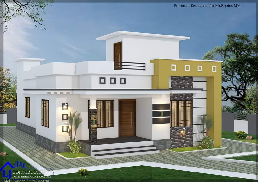 1200 Sq Ft 3BHK Single-Storey Modern and Beautiful House and Plan