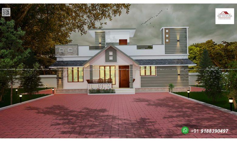 1230 Sq Ft 3BHK Single-Storey Beautiful Modern House and Free Plan