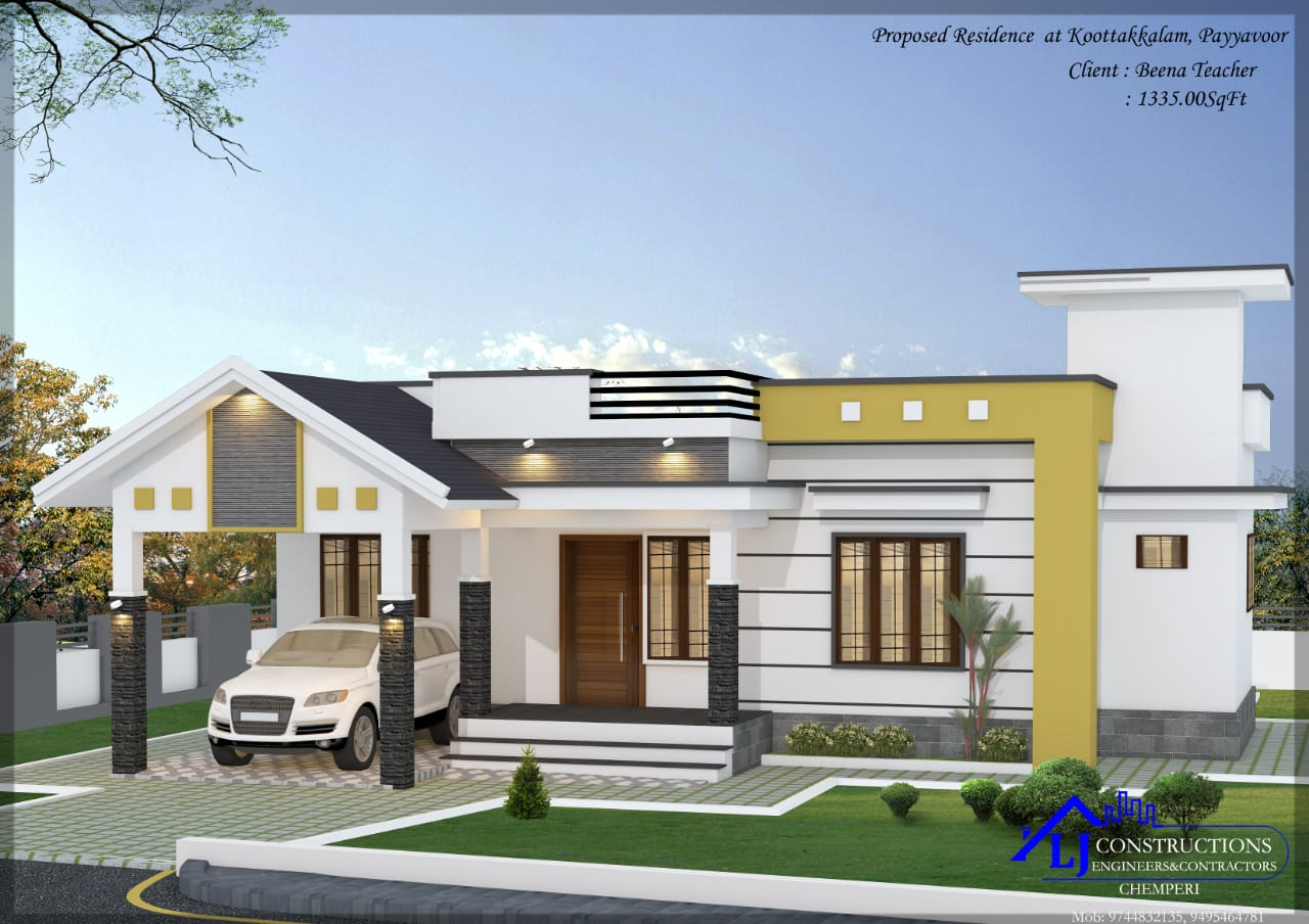 1335 Sq Ft 3BHK Single-Storey Beautiful House and Plan, 27 Lacks
