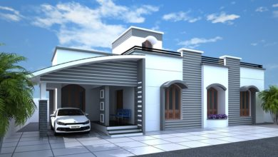 Photo of 1350 Sq Ft 2BHK Modern Single-Storey House and Plan at 6.75 Cent Land