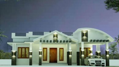 Photo of 1377 Sq Ft 3BHK Contemporary Style Single Storey House and Plan