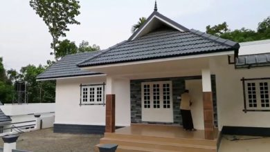 Photo of 1400 Sq Ft 3BHK Traditional Style Single-Storey House at 9 Cent Plot