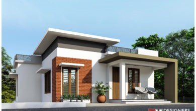 Photo of 1400 Sq Ft 4BHK Two-Storey Modern House and Plan