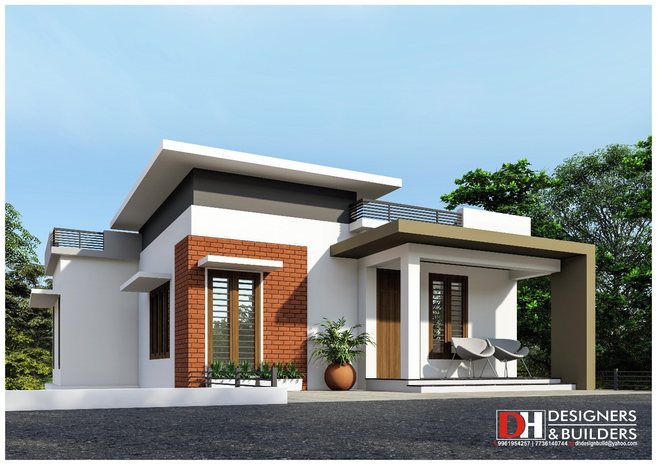 1400 Sq Ft 4BHK Two-Storey Modern House and Plan