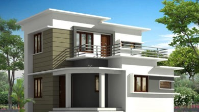 Photo of 1510 Sq Ft 3BHK Contemporary Style Two-Storey House and Plan