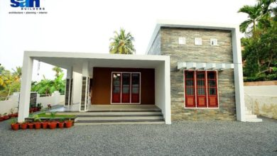 Photo of 1616 Sq Ft 3BHK Contemporary Style Single-Storey House and Free Plan