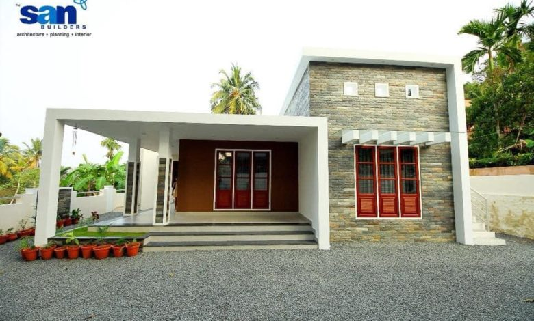 1616 Sq Ft 3BHK Contemporary Style Single-Storey House and Free Plan