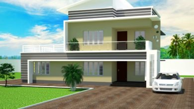 Photo of 1684 Sq Ft 3BHK Contemporary Style Two-Storey House and Plan