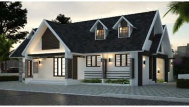 Photo of 1714 Sq Ft 3BHK Colonial-Traditional Style Single-Storey House and Plan, 32 Lacks