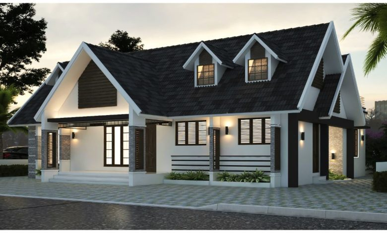 1714 Sq Ft 3BHK Colonial-Traditional Style Single-Storey House and Plan, 32 Lacks