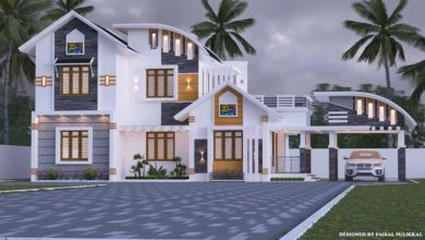Photo of 1800 Sq Ft 3BHK Contemporary Style Modern Two-Storey House
