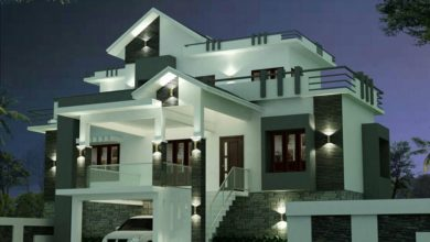 Photo of 1814 Sq Ft 3BHK Contemporary Style Two-Storey House and Plan