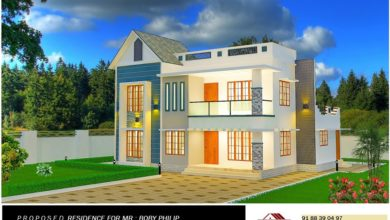 Photo of 1921 Sq Ft 4BHK Contemporary Style Two-Storey House and Free Plan