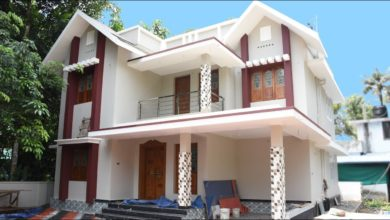Photo of 2000 Sq Ft 4BHK Contemporary Style Two-Storey House at 6 Cent Plot