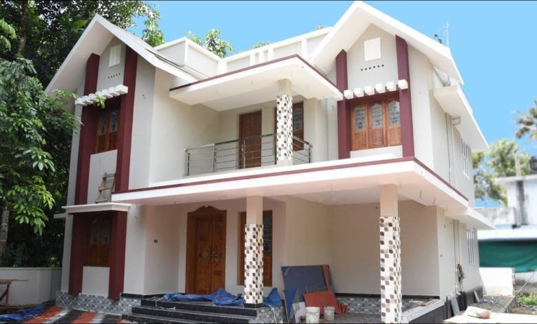 2000 Sq Ft 4BHK Contemporary Style Two-Storey House at 6 Cent Plot