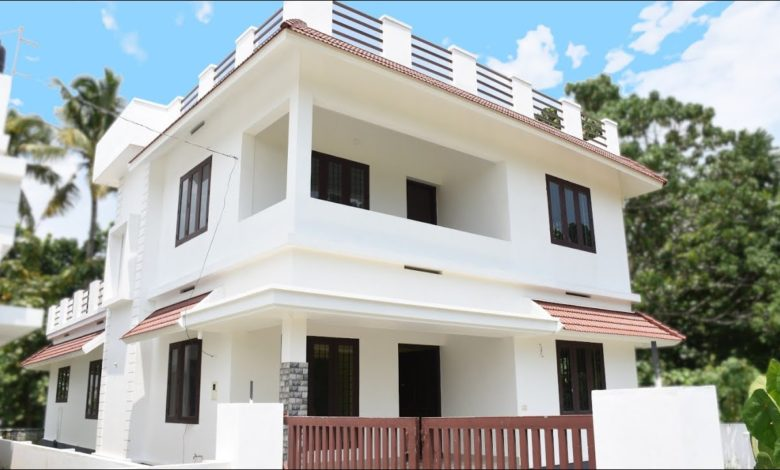 2000 Sq Ft 4BHK Two Storey Modern Beautiful House at 6 Cent Plot