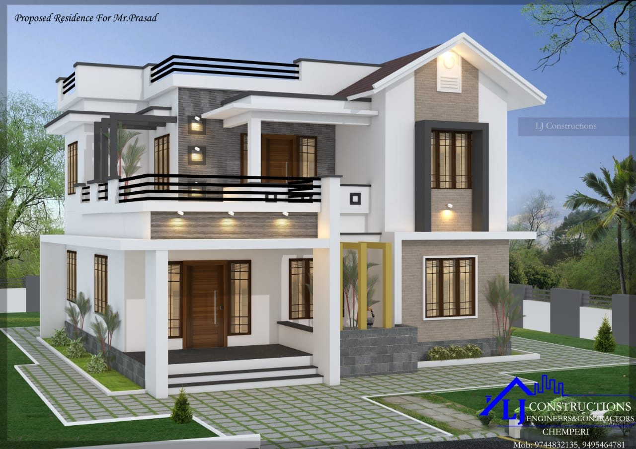 2081 Sq Ft 4BHK Two-Storey Beautiful House and Free Plan