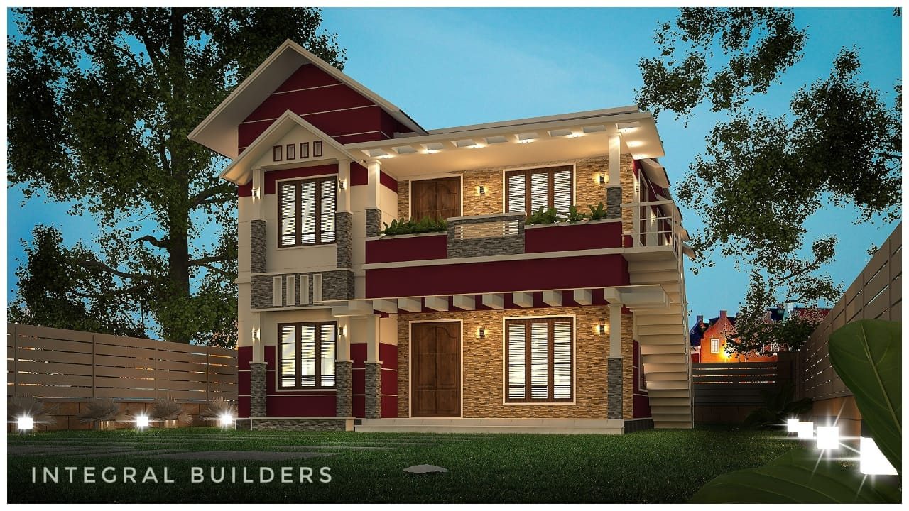 2546 Sq Ft 6BHK Two-Storey Modern House and Free Plan