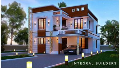 Photo of 2647 Sq Ft 4BHK Contemporary Style Two-Storey House and Free Plan