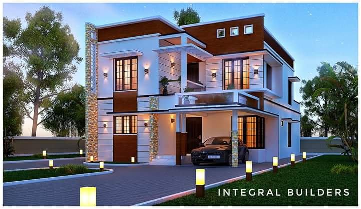 2647 Sq Ft 4BHK Contemporary Style Two-Storey House and Free Plan