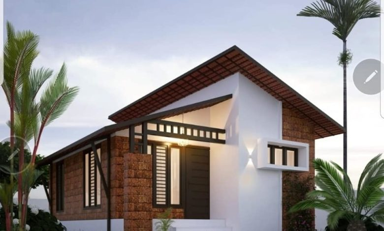 420 Sq Ft 2BHK Modern Single-Storey House and Plan, Budget 6 Lacks