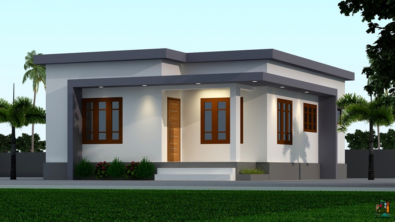 650 Sq Ft 2BHK Modern Single-Storey House and Plan, Below 10 Lacks