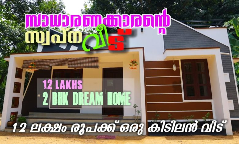750 Sq Ft 2BHK Modern Single-Storey House, 12 Lacks