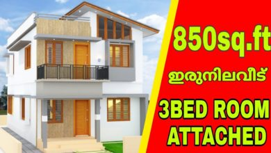 Photo of 850 Sq Ft 3BHK Two-Storey House and Free Plan, Cost 11 Lacks