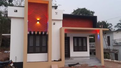 Photo of 882 Sq Ft 3BHK Contemporary Style Single-Storey House and Plan