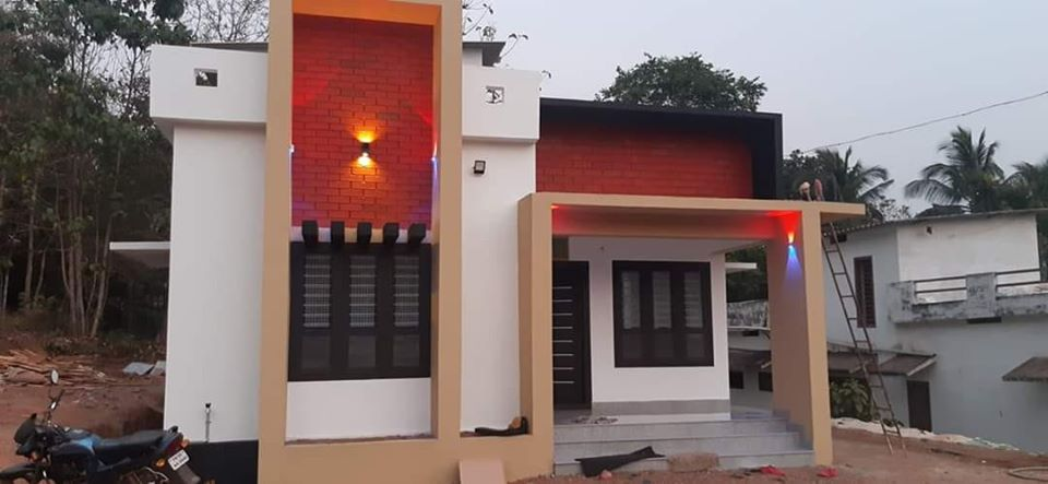 882 Sq Ft 3BHK Contemporary Style Single-Storey House and Plan