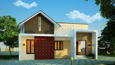 Photo of 1092 Sq Ft 2BHK Contemporary Style Single Floor House and Free Plan