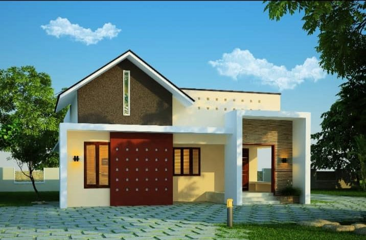 1092 Sq Ft 2BHK Contemporary Style Single Floor House and Free Plan