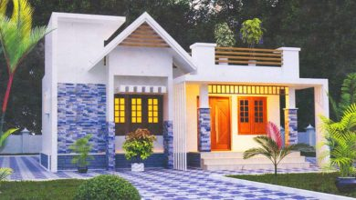Photo of 916 Sq Ft 2BHK Contemporary Style Single Floor House and Free Plan