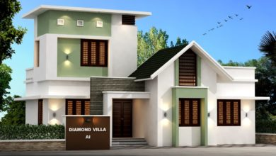 Photo of 947 Sq Ft 3BHK Contemporary Style Single-Storey House and Free Plan