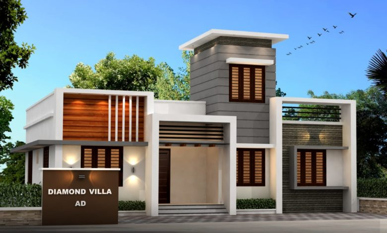953 Sq Ft 3BHK Contemporary Style Single Floor House and Free Plan