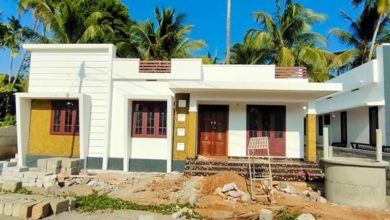 Photo of 956 Sq Ft 3BHK Contemporary Style Single-Storey House and Free Plan