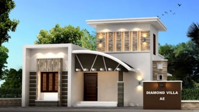Photo of 968 Sq Ft 3BHK Contemporary Style Single-Storey House and Free Plan