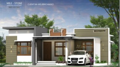 Photo of 980 Sq Ft 3BHK Contemporary Style Single-Storey House and Plan, 14 Lacks