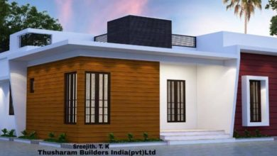 Photo of 988 Sq Ft 3BHK Contemporary Style Single-Storey House and Free Plan, 16.5 Lacks