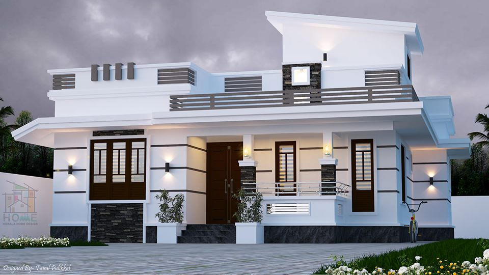990 Sq Ft 2BHK Contemporary Style Beautiful Single-Storey Home