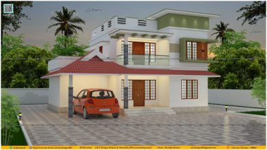 Photo of Traditional-Contemporary Mix Style 4 BHK Beautiful Two Storey House and Free Plan