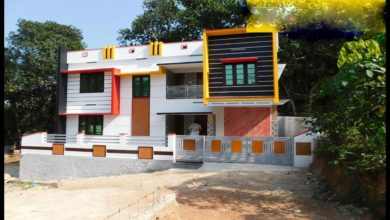Photo of 1450 Sq Ft 3BHK Contemporary Style Two-Storey House at 3 Cent Land