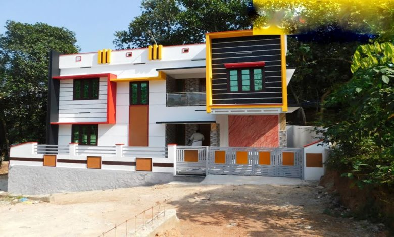 1450 Sq Ft 3BHK Contemporary Style Two-Storey House at 3 Cent Land