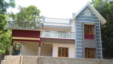 Photo of 1950 Sq Ft 3BHK Contemporary-Traditional Mix Style House at 7 Cent Plot