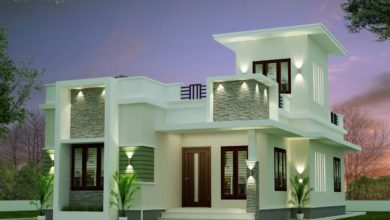 Photo of 1028 Sq Ft 3BHK Modern Style Single Floor House Design