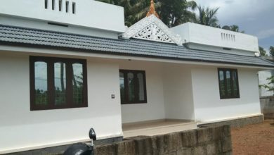 Photo of 1084 Sq Ft 3BHK Single Floor Kerala Style Beautiful House and Free Plan