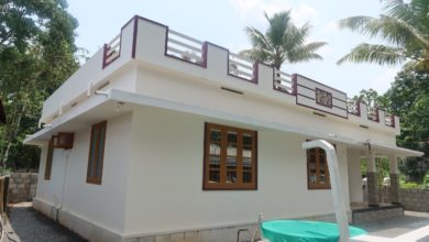 Photo of 1100 Sq Ft 3BHK Single Floor Low Budget House at 6 Cent Plot