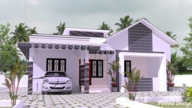 Photo of 1119 Sq Ft 3BHK Contemporary-Traditional Mix Style House and Free Plan